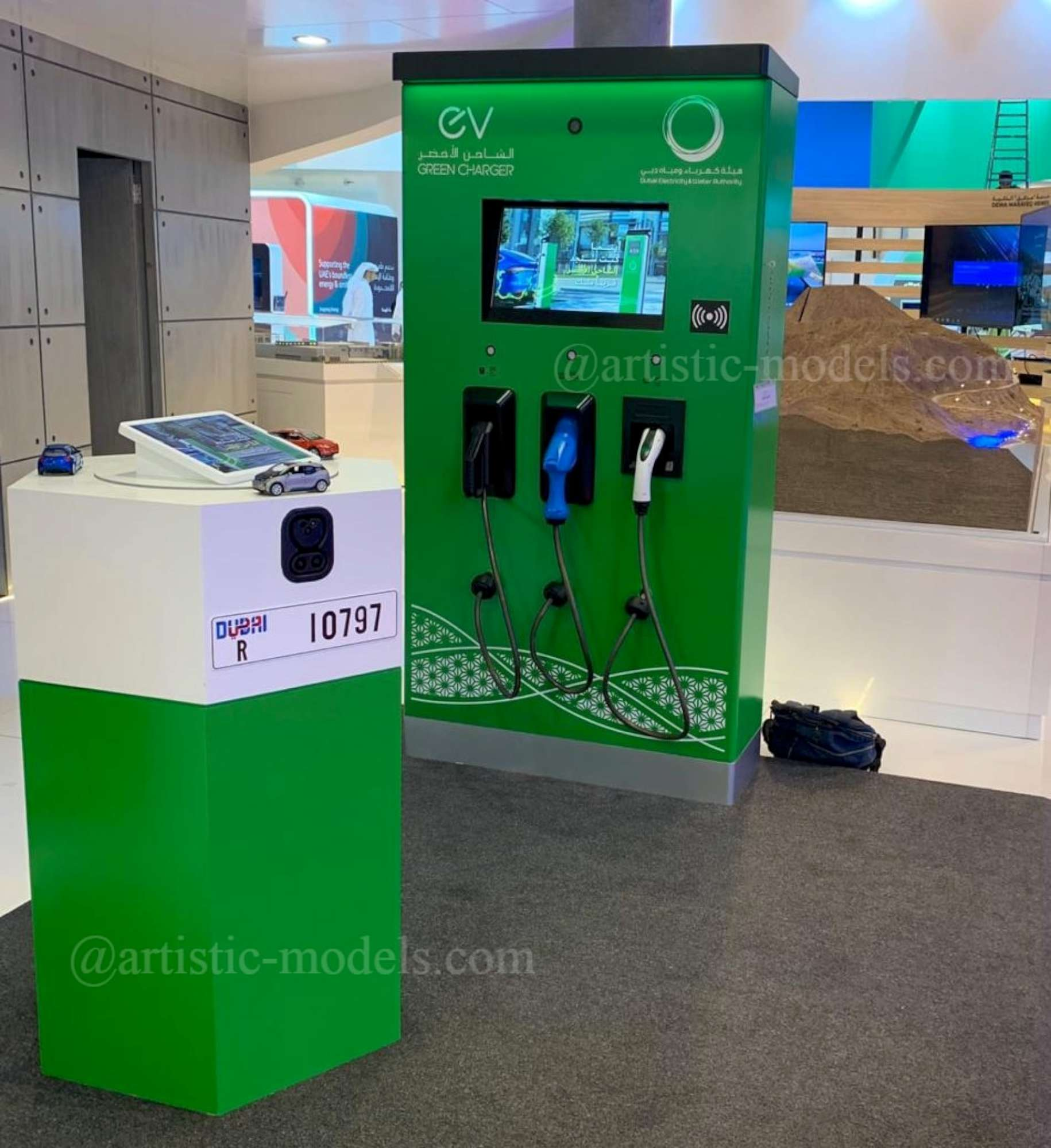 Interactive Scale Model of EV Green Charger